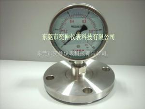 AT100SUS-10KG-DN25法蘭式不銹鋼隔膜表DN25單法蘭隔膜式壓力表