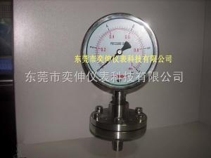 AT100SUS-10KG-1/2不銹鋼隔膜表制藥機械用不銹鋼螺紋式隔膜壓力表