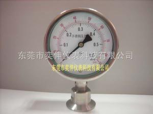 AT100SUS-6KG-不锈钢卡箍式隔膜表制药机械用卡箍式式隔膜压力表