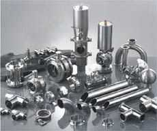 不锈钢卫生级管件、阀门、卫生泵