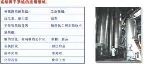 连续离子交换技术和工业色谱技术