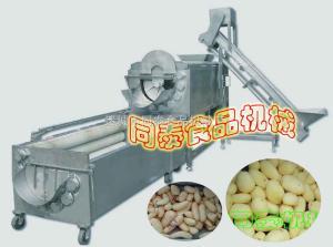 螺旋自動出料毛刷清洗機,清洗脫皮機,土豆清洗機,紅薯清洗機