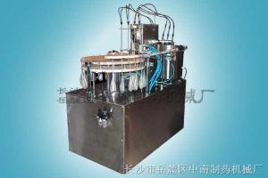 CRG细长颈软胶袋灌装压盖机