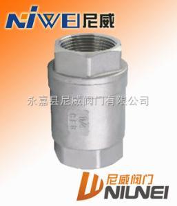 H12H/W不锈钢立式内螺纹止回阀