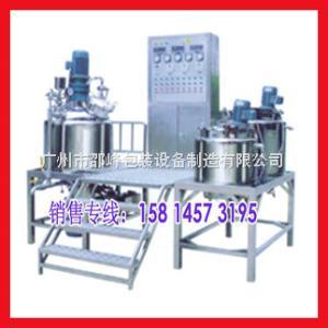 用途      適用于化妝品廠、藥廠的膏、霜類產品的生產,尤其對基質粘度大,固料含量比較高高速真空乳化機、真空均質乳化機(上均)。外循環在線真空乳化機組