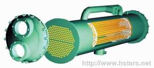 壳管式冷凝器-壳管式换热器-冷冻机冷凝器-制冷配件
