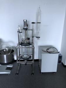 专业生产双层玻璃反应釜100L